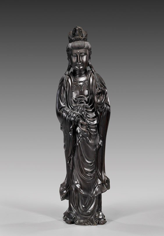 1: Tall Chinese Figure of Guanyin Standing