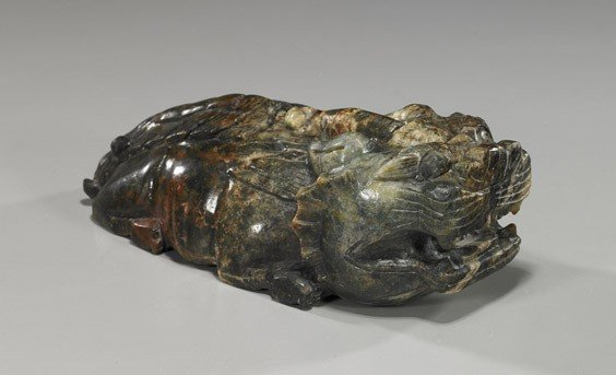 5: Chinese Carved Jade/Hardstone Qilin