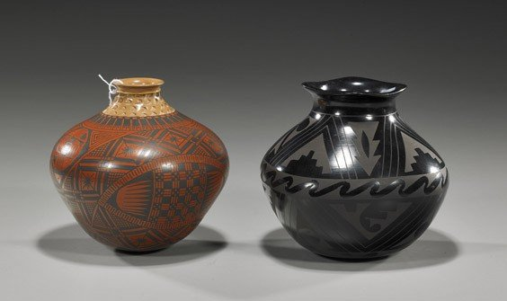 6: Two Native American Pottery Vessels