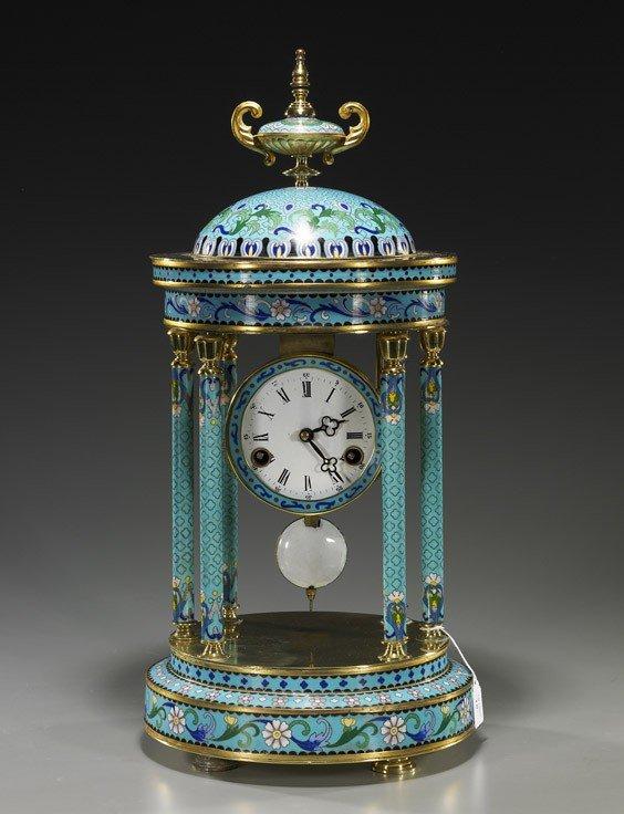 10: Chinese Cloisonné Enamel Clock