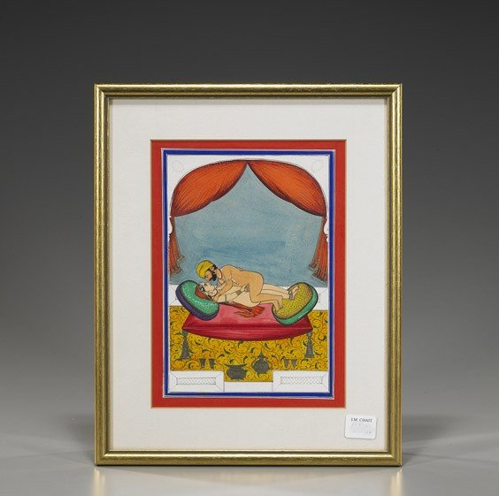 90: Old Indian Erotic Miniature Painting