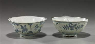93 Two Chinese Ming Porcelain Bowls