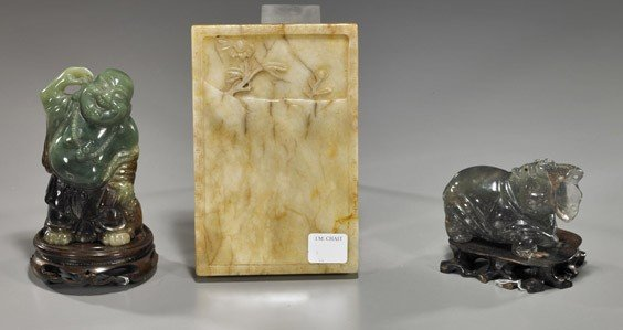 177: Three Various Chinese Carved Hardstones