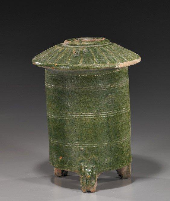 225: Han Dynasty Green Glazed Pottery Grainery
