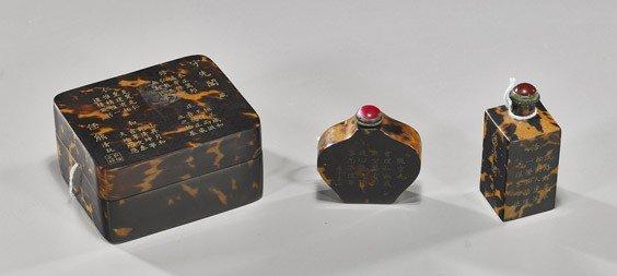 235: Three Chinese Tortoise Shell Items