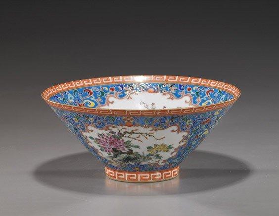 237: Large Chinese Famille Rose Porcelain Bowl