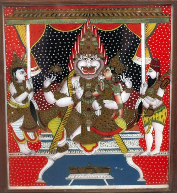 427: Indian Tantric/Hindu Deities Painting