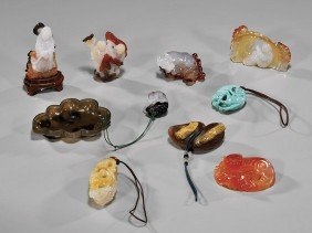 GROUP 10 SMALL MINERAL CARVINGS