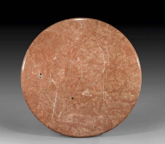 PINK MARBLE TABLETOP WITH STAND