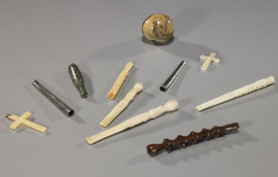 7: Group of Various (Mostly Ivory) Items