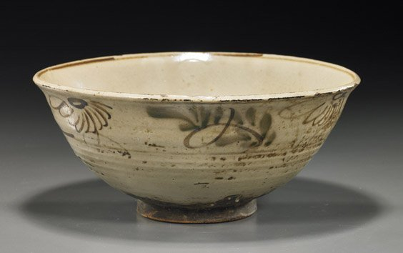 14: Antique Chinese Cizhou-Type Glazed Bowl