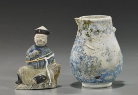 Two Ship Wreck Excavated Chinese Porcelains