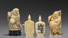 Group Of Ivory & Composition Pieces
