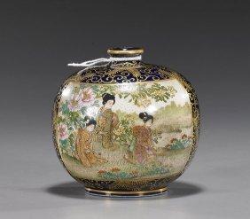 Japanese Miniature Satsuma Porcelain Vase
