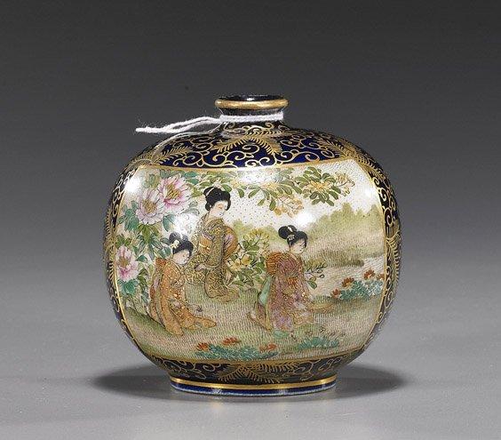 97: Japanese Miniature Satsuma Porcelain Vase