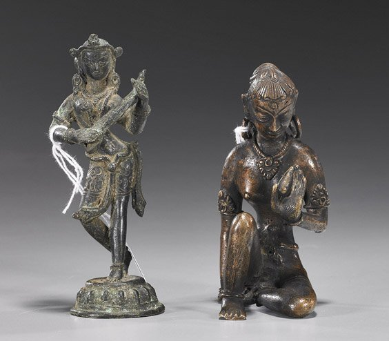 99: Two Antique Indian/Nepalese Bronzes