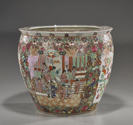 100: Chinese Famille Rose Porcelain Jardinière