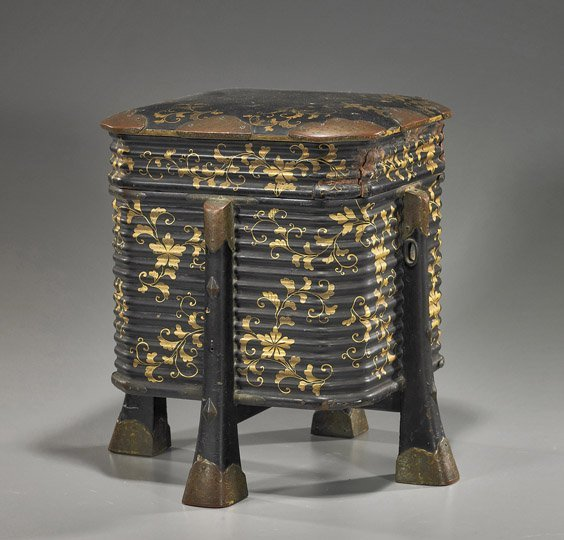 102: Antique Japanese Lacquered Storage Box