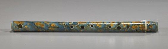 109: Chinese Glazed Porcelain Flute