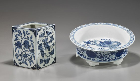 110: Two Chinese Blue & White Porcelains