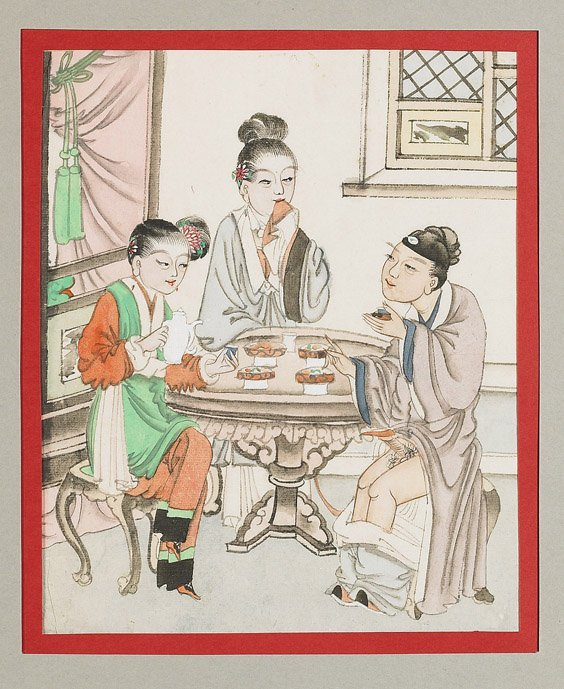435: Set of 10 Chinese Erotic Paintings - 10