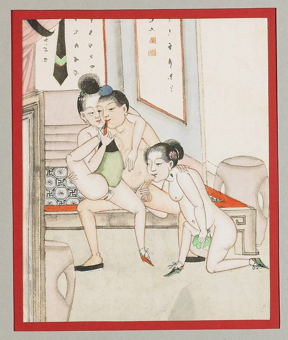 435: Set of 10 Chinese Erotic Paintings