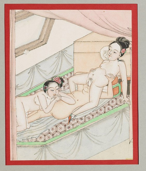 435: Set of 10 Chinese Erotic Paintings - 2
