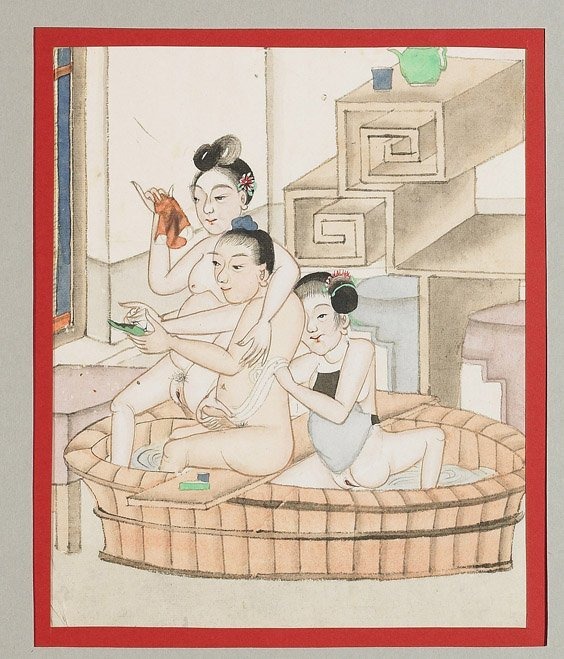 435: Set of 10 Chinese Erotic Paintings - 3