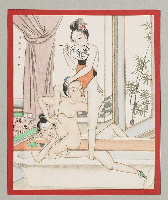 435: Set of 10 Chinese Erotic Paintings - 5