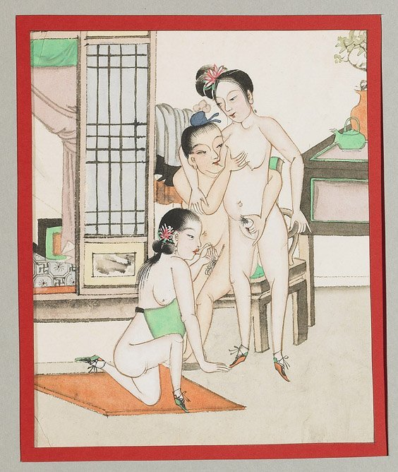 435: Set of 10 Chinese Erotic Paintings - 6