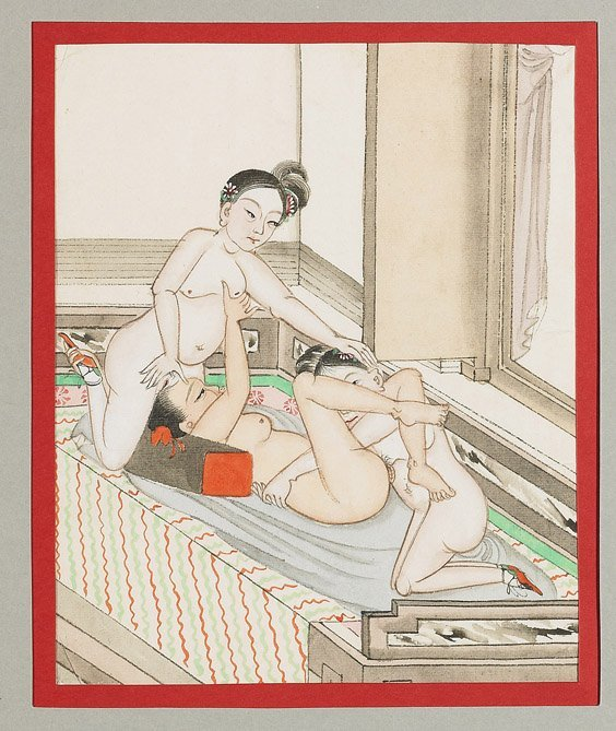 435: Set of 10 Chinese Erotic Paintings - 8