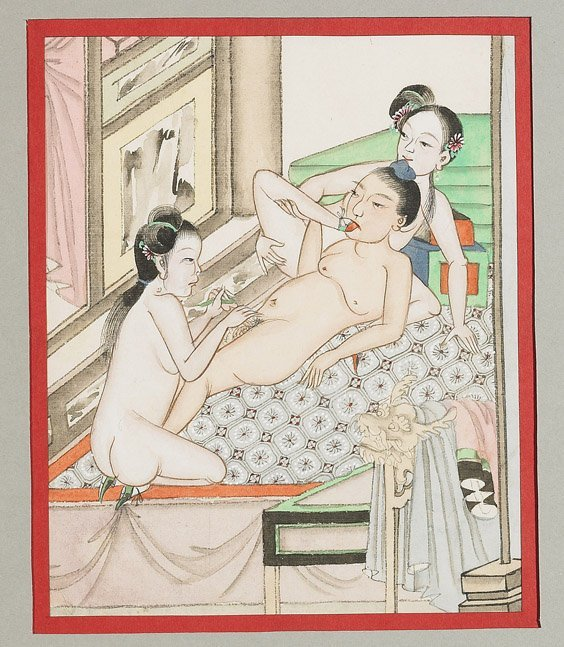 435: Set of 10 Chinese Erotic Paintings - 9