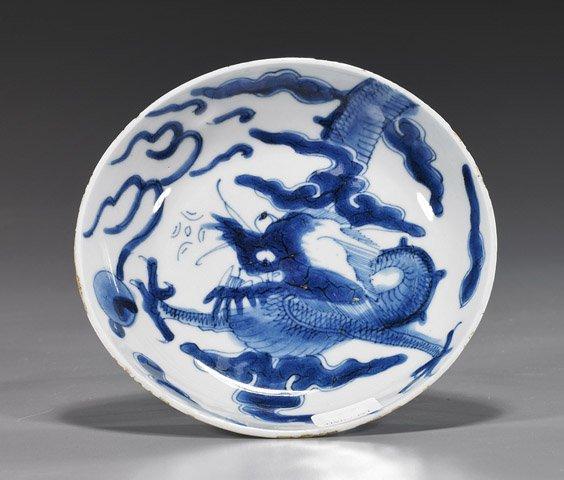 10A: Yongzheng Blue & White Porcelain Dish