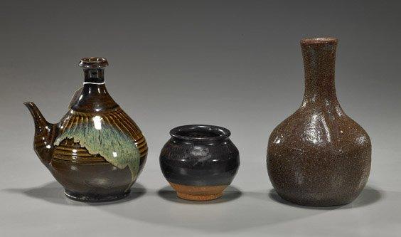 12: Three Various Chinese Glazed Ceramics