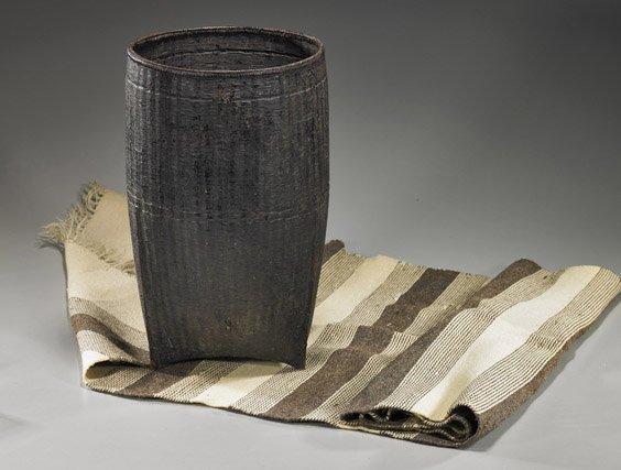 19: Native American Saddle Blanket & Thai Basket