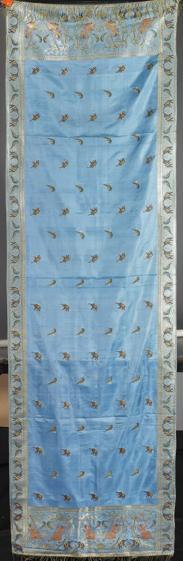 20: Indian Embroidered Silk Panel/Shawl