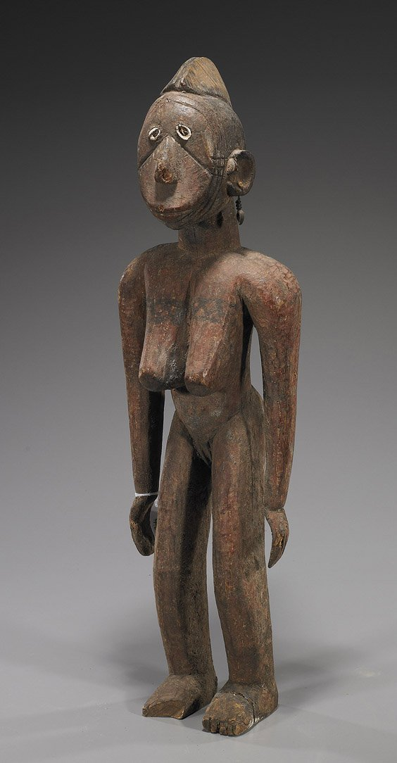 46: Tall African Carved Wood Figure