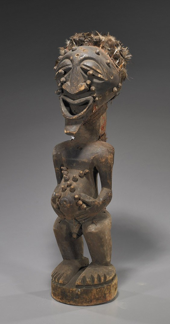 48: Large African Carved Wood Figure