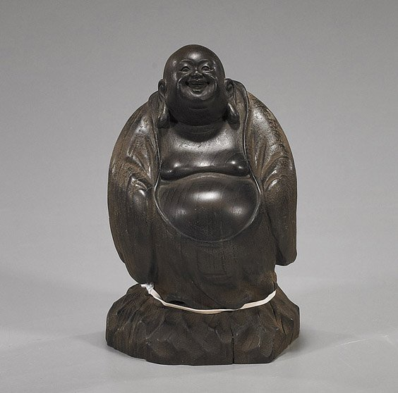 65: Old Chinese Carved Wood Budai