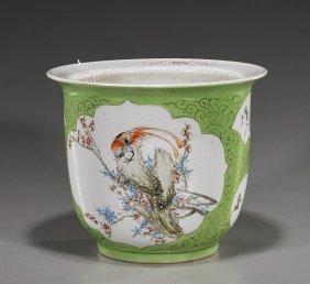 Chinese Enameled Porcelain Jardini�re
