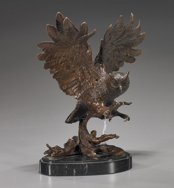 71: Bronze Model of a Flying Owl