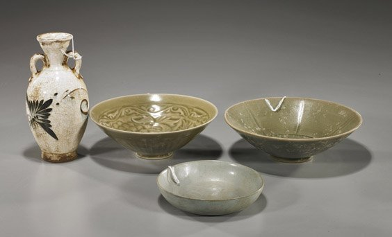 85: Four Early-Style Chinese Glazed Ceramics