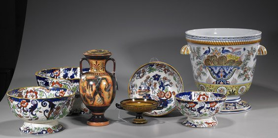 87: Group of 7 Continental Glazed Ceramics