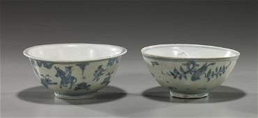 108 Two Chinese Ming Dynasty Porcelain Bowls