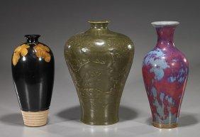 Three Early-Style Chinese Glazed Ceramics
