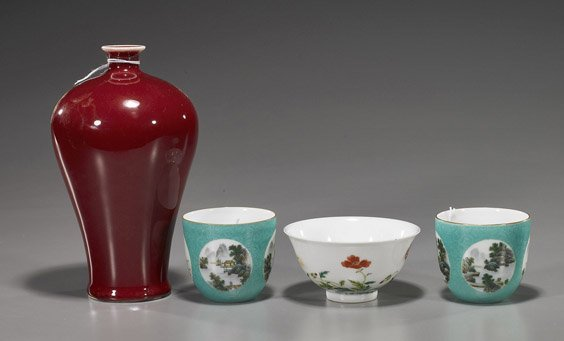 215: Four Various Chinese Porcelains