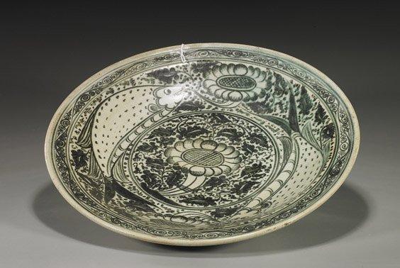 222: Large Antique Southeast Asian Dish