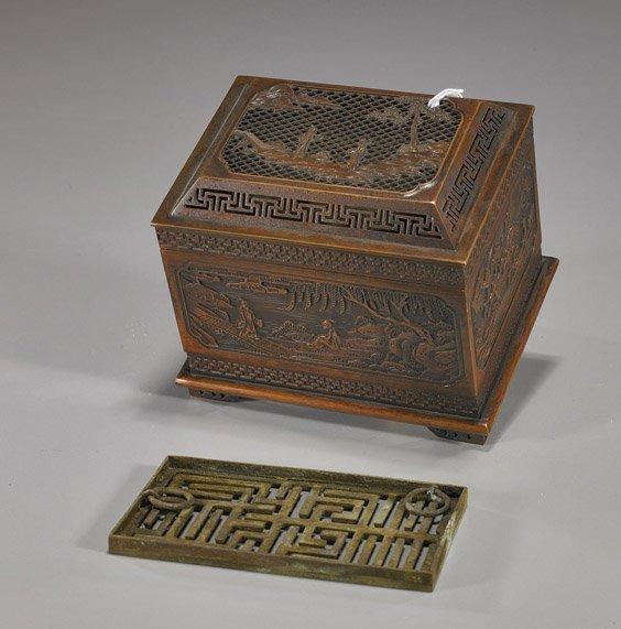 228: Unusual Chinese Copper Incense Clock
