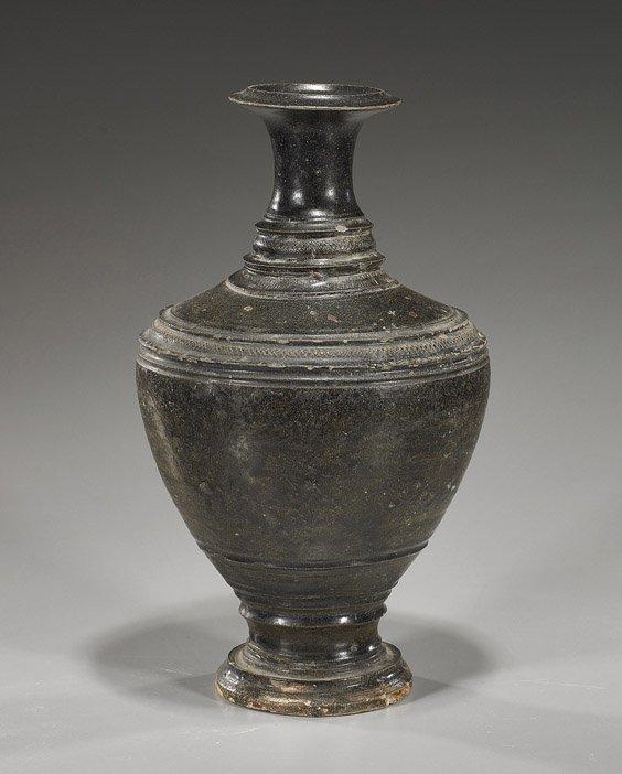 232: Antique Southeast Asian Brown Glazed Vase