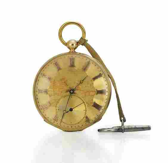 ANTIQUE YELLOW GOLD POCKET WATCH